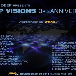 CJ Art - Deep Visions 3-Year Anniversary [November 29-30.2011] On Pure Fm by CJArt sets