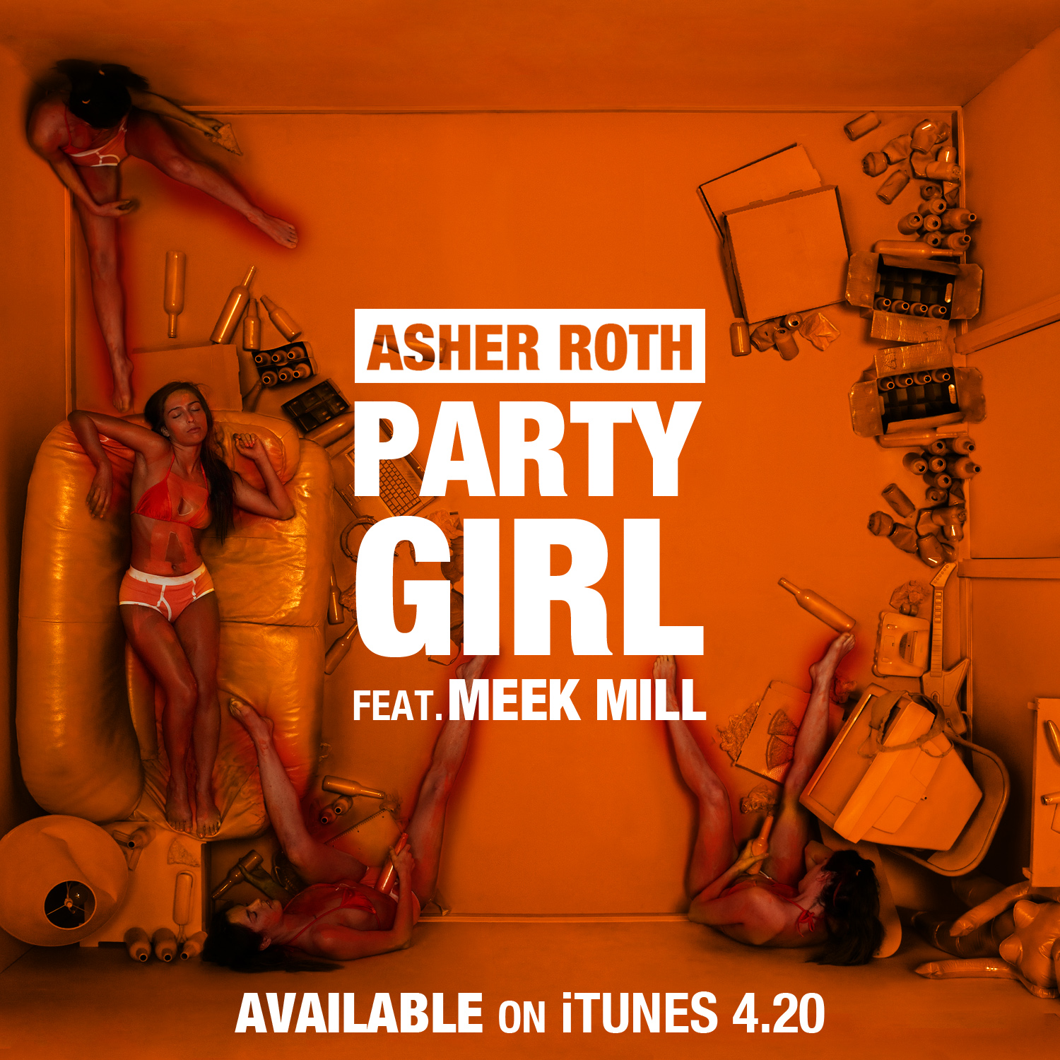 Listen to a new hiphop song Party Girl (Feat. Meek Mill) - Asher Roth