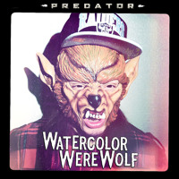 Watercolor Werewolf Predator Artwork