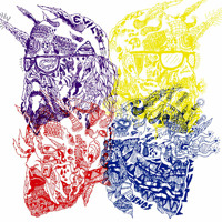 Portugal. The Man Purple Yellow Red and Blue Artwork