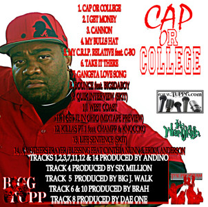 CAP OR COLLEGE by BIGG TUPP WIT 2P's IN IT