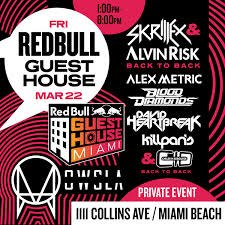 Skrillex & Alvin Risk - Live @ Red Bull Guest House Miami