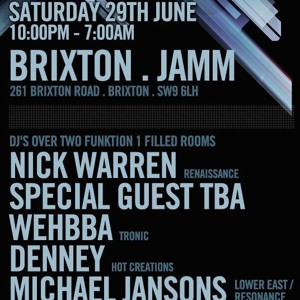 V.2 - Electronic Sessions @ Brixton Jamm w/ Nick Warren