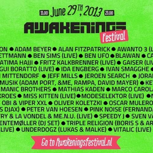 Awakenings Festival 2013 (Exclusive) by Dave Clarke DJ Sets