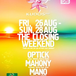 Mano, Mahony and Bog live set @ Kudos Beach Part 3