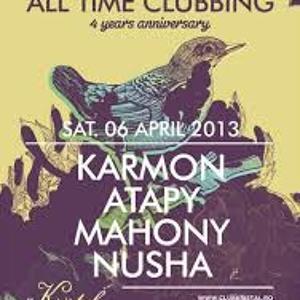 Mahony B2B Nusha Live Set @ AllTimeClubbing 4 years anniversary @ Kristal Club 06.04.2013