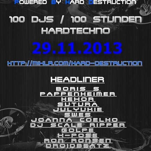 Massie @ Destruction Bday Spezial 100 Djs  29 Nov 2013 Special hardtechno set by dj Massie on SoundCloud - Hear the world's sounds
