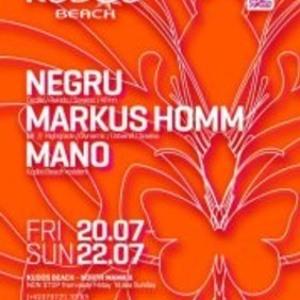 Mano B2B Markus Homm live set @ Kudos Beach 21.07.2012