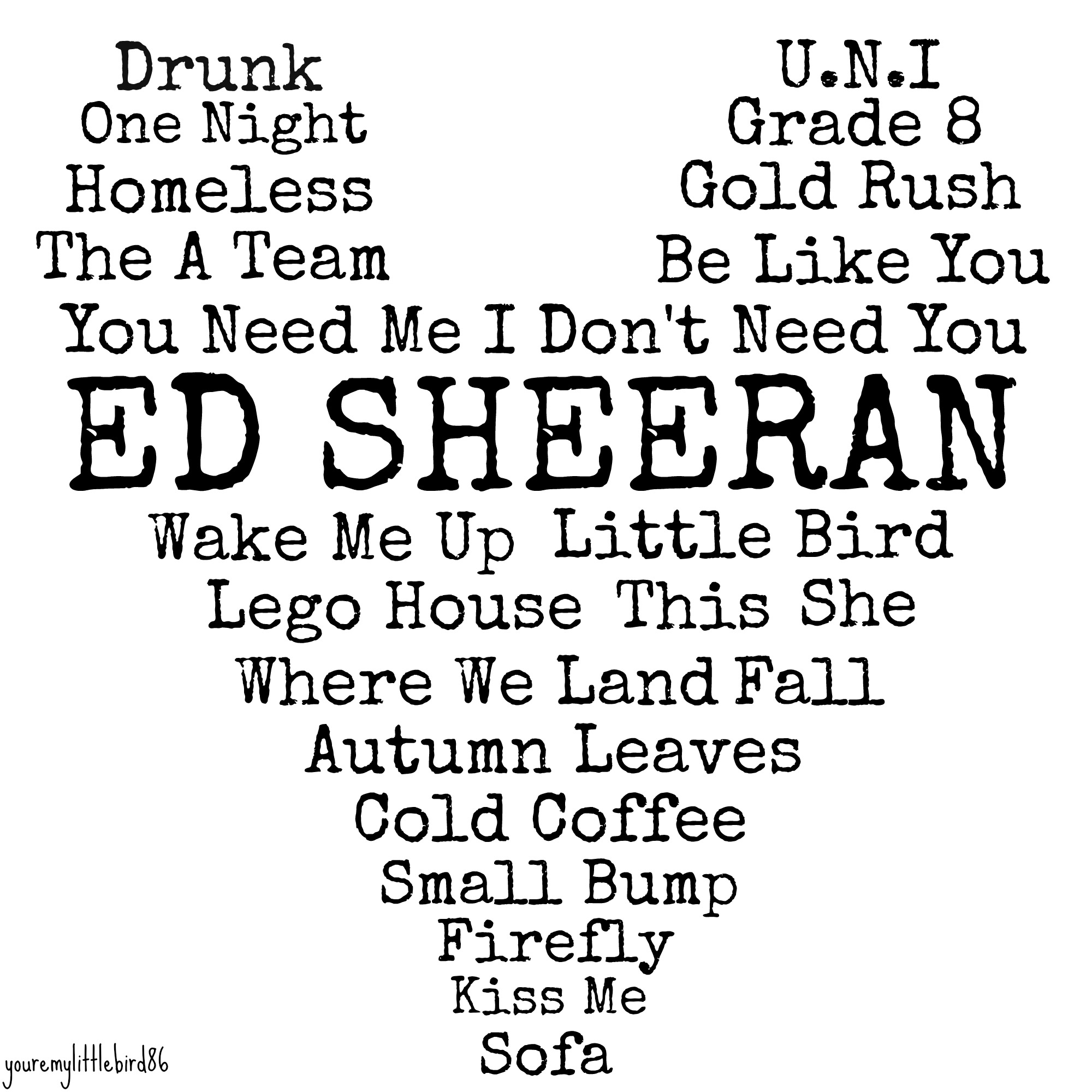 ed sheeran song lyrics drawings tumblr - photo #27