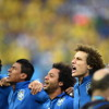 Brazil's national anthem sung at the World Cup by the crowd - Hino Nacional Brasileiro!