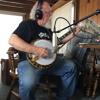 Steve Cooley recording banjo parts on my new album