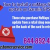 How to install a nuMaps lifetime map update on Garmin GPS device