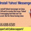 Unable to Install Yahoo! Messenger on Linux