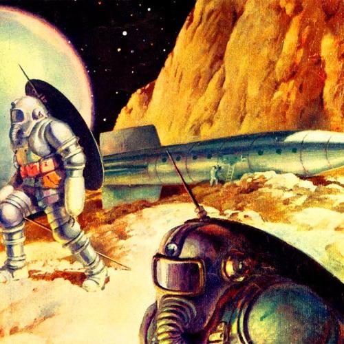 Vintage SciFi Art Astronaut  Pics about space