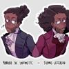 Cabinet Battle #1 but Hamilton and Jefferson become friends