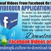 How To Download Videos From Facebook On Mobile Using Videoder Application?