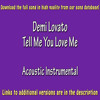 Demi Lovato - Tell Me You Love Me (Acoustic Instrumental) Karaoke