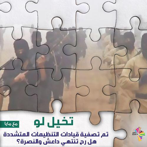 تخيل لو تم تصفية قيادات التنظيمات المتشددة، هل رح تنتهي داعش والنصرة؟