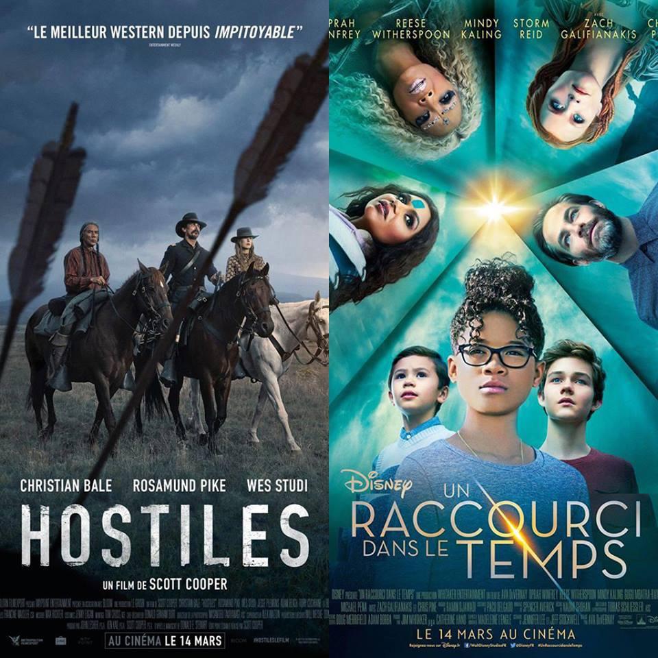 Hostiles et Un Raccourci dans le Temps (A wrinkle in time): un Western... et un film à l'Ouest