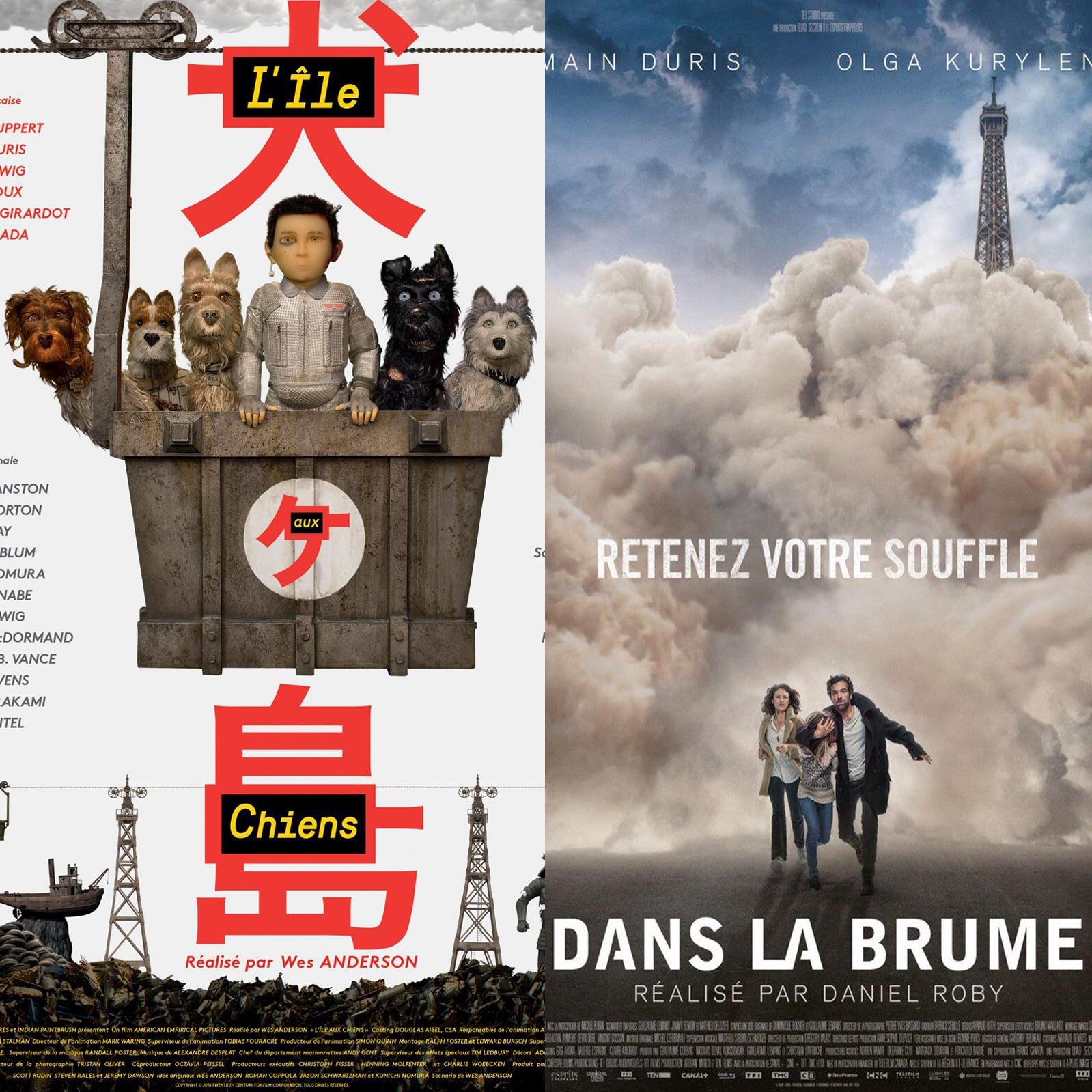 L'ÎLE AUX CHIENS (Isle of Dogs) & DANS LA BRUME : Chiennes de Villes