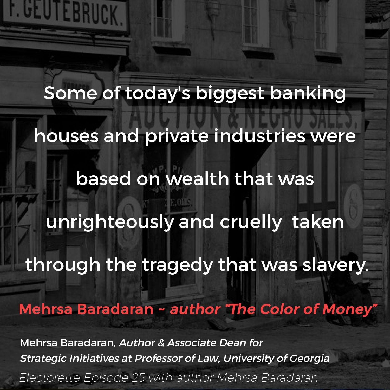 EPISODE TWENTY-FIVE | The Color of Money with Mehrsa Baradaran