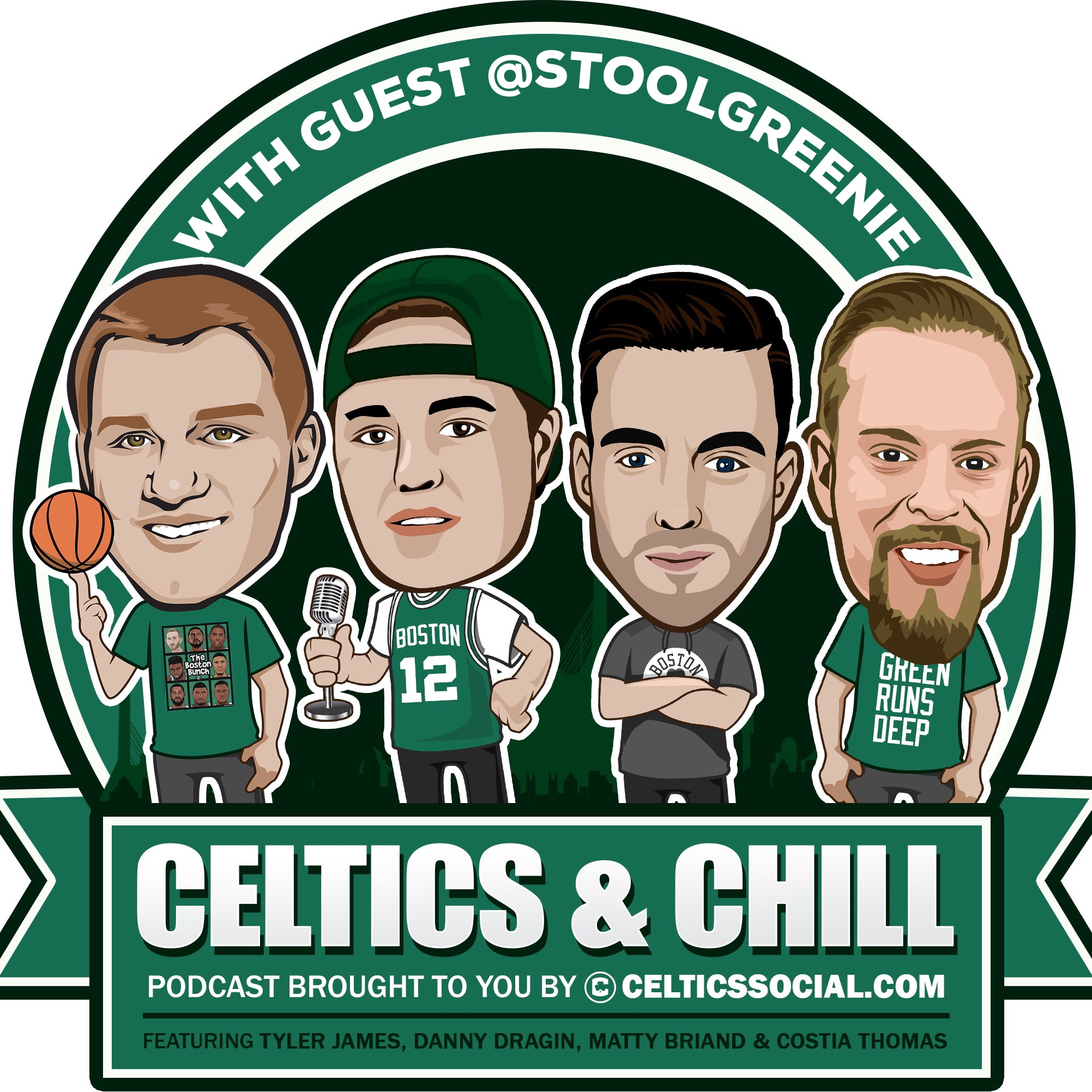 #20- With guest Dan Greenberg @StoolGreenie! Celtics 1 game away, crazy NBA trade talk (KAT) & more!