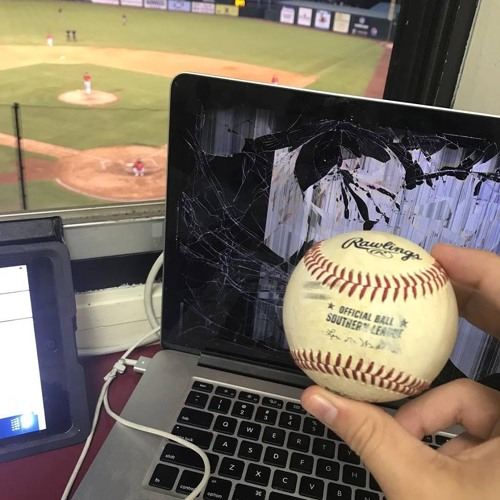 Van Riggs - Minor League Announcer's Computer Shattered From Foul Ball Live on Air!