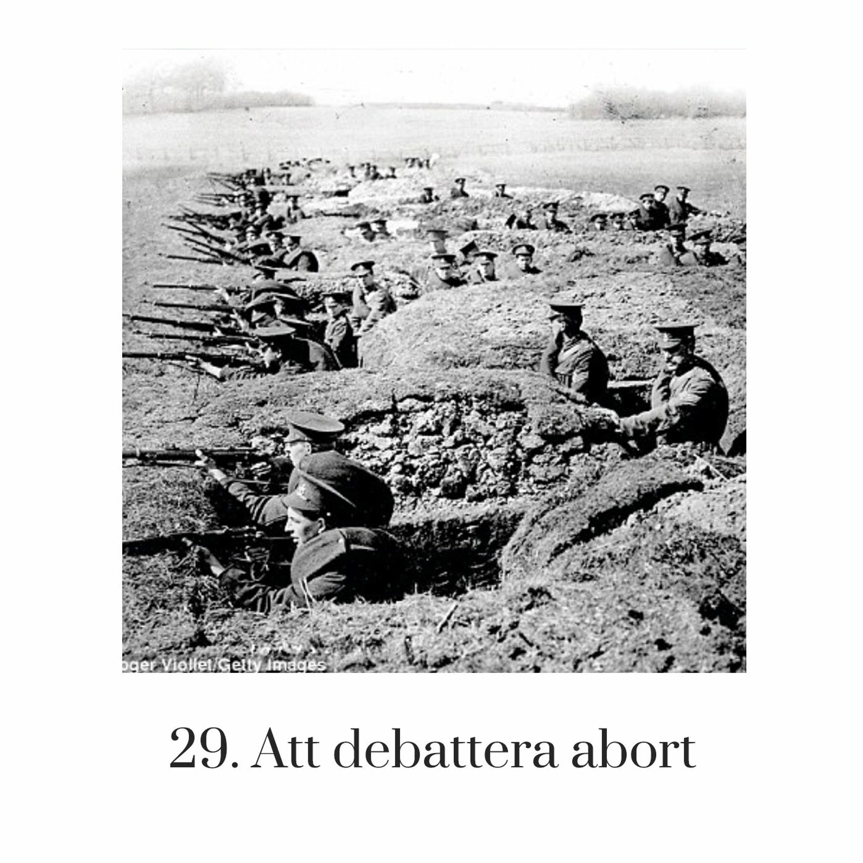 29. Att debattera abort
