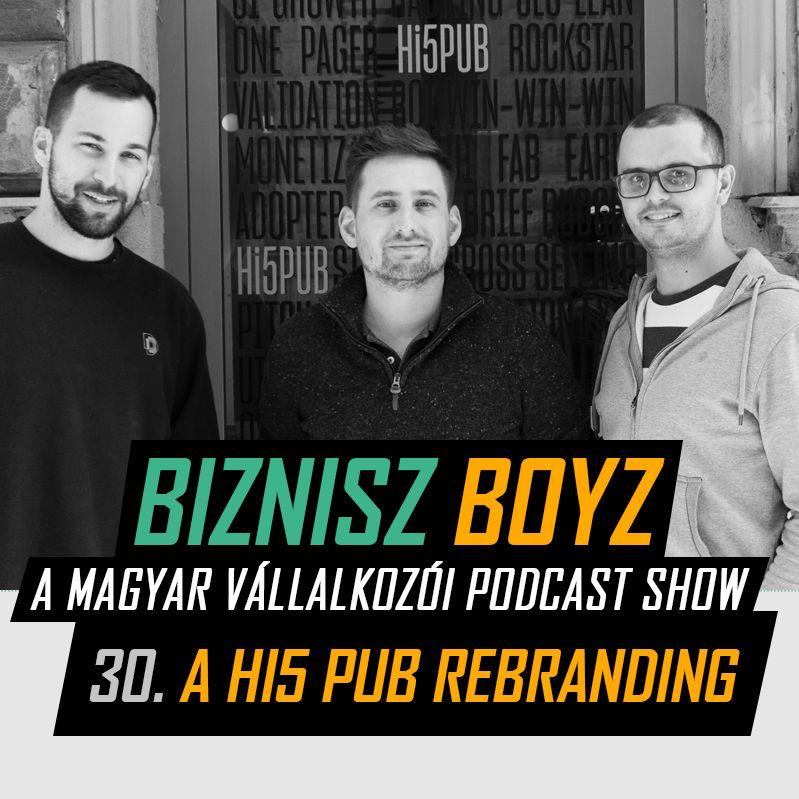 30. Hogy áll a Hi5 Pub 1,5 év után - A Hi5 rebranding | Biznisz Boyz Podcast