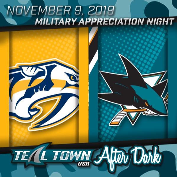 Nashville Predators vs San Jose Sharks - 11-9-2019 - Teal Town USA After Dark (Postgame)