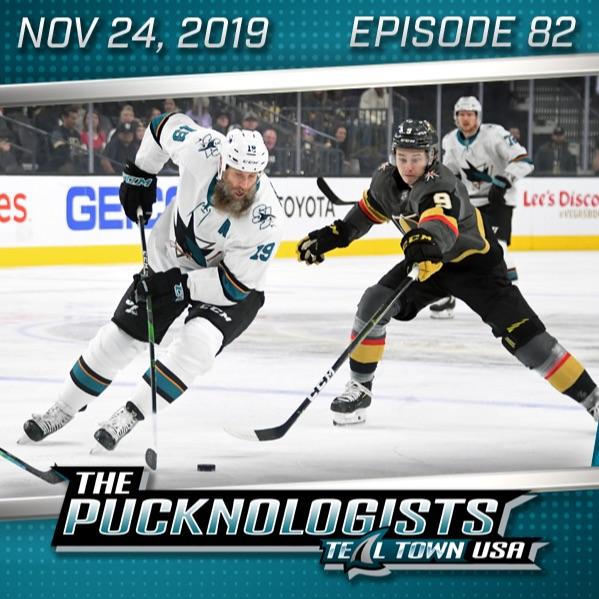 The Pucknologists - EP 82 - A Fantastic Fanatics Screw-Up, Grades Through The 1/4 Season, Sharks Win