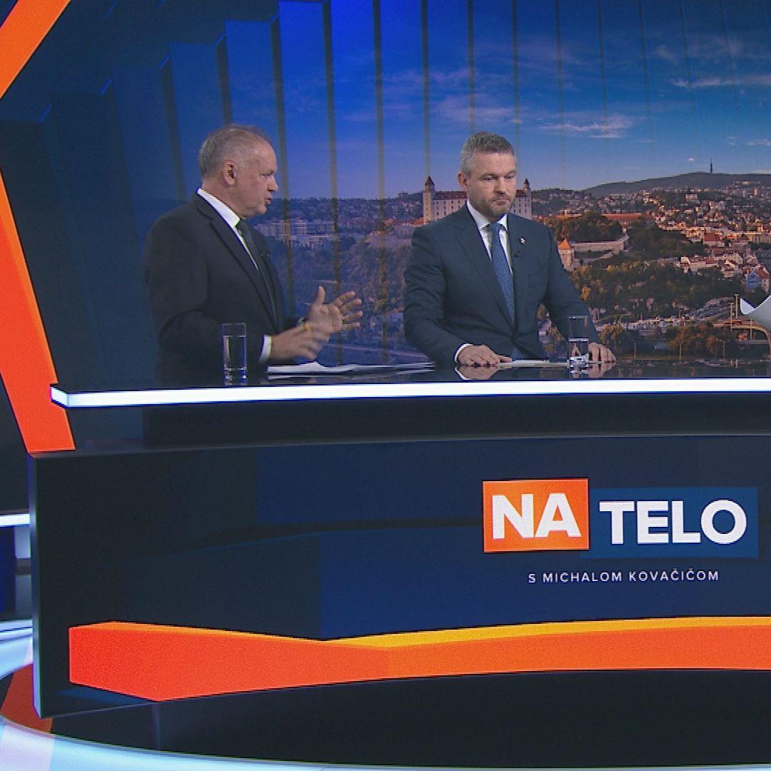 Andrej Kiska a Peter Pellegrini (8.12.)