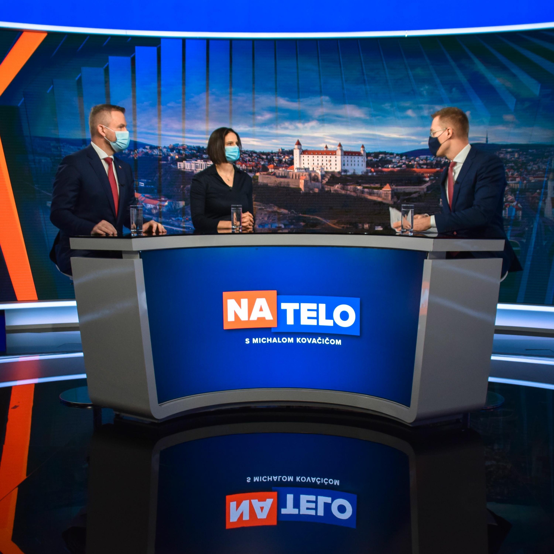 Peter Pellegrini (Hlas-SD) a Mária Kolíková (Za ľudí)