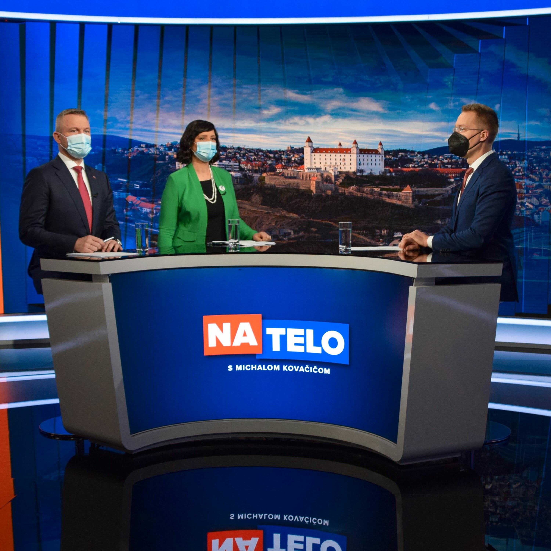 Peter Pellegrini (Hlas - SD) a Veronika Remišová (Za ľudí)