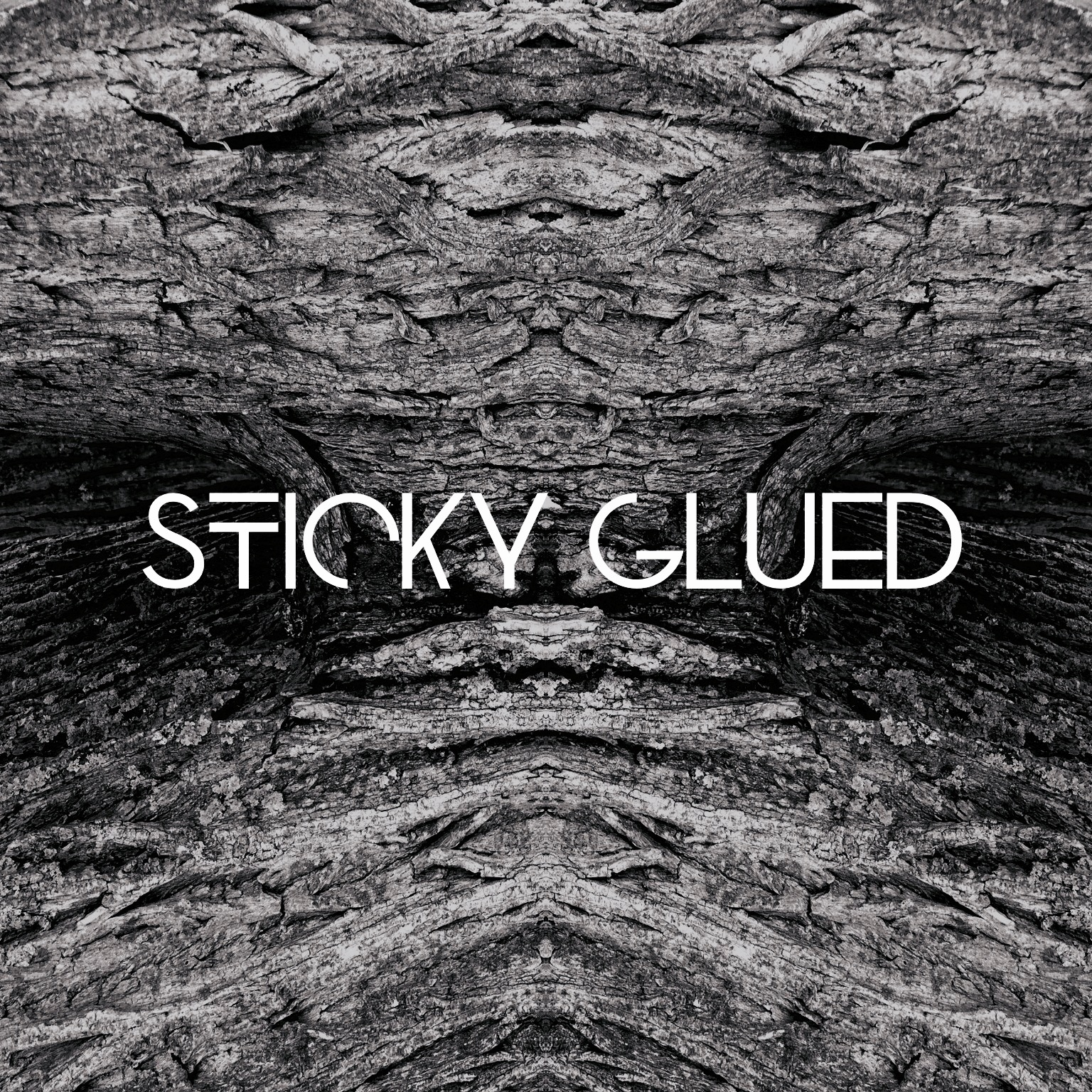sticky glued