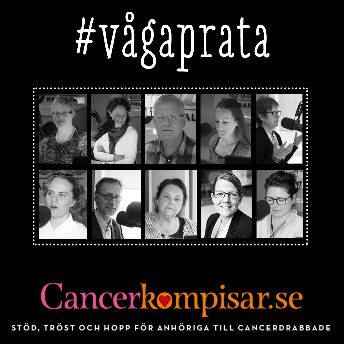 Vågaprata - Cancer ur 10 olika anhörigperspektiv