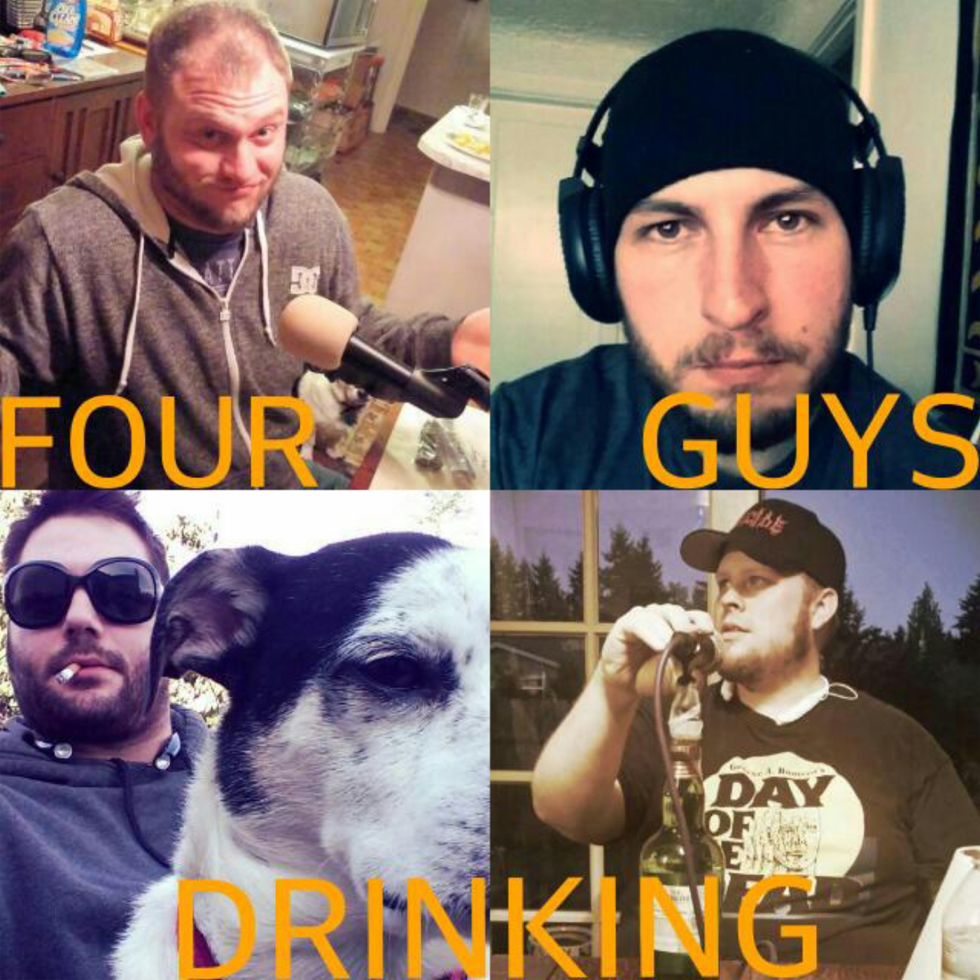 Four Guys Drinking