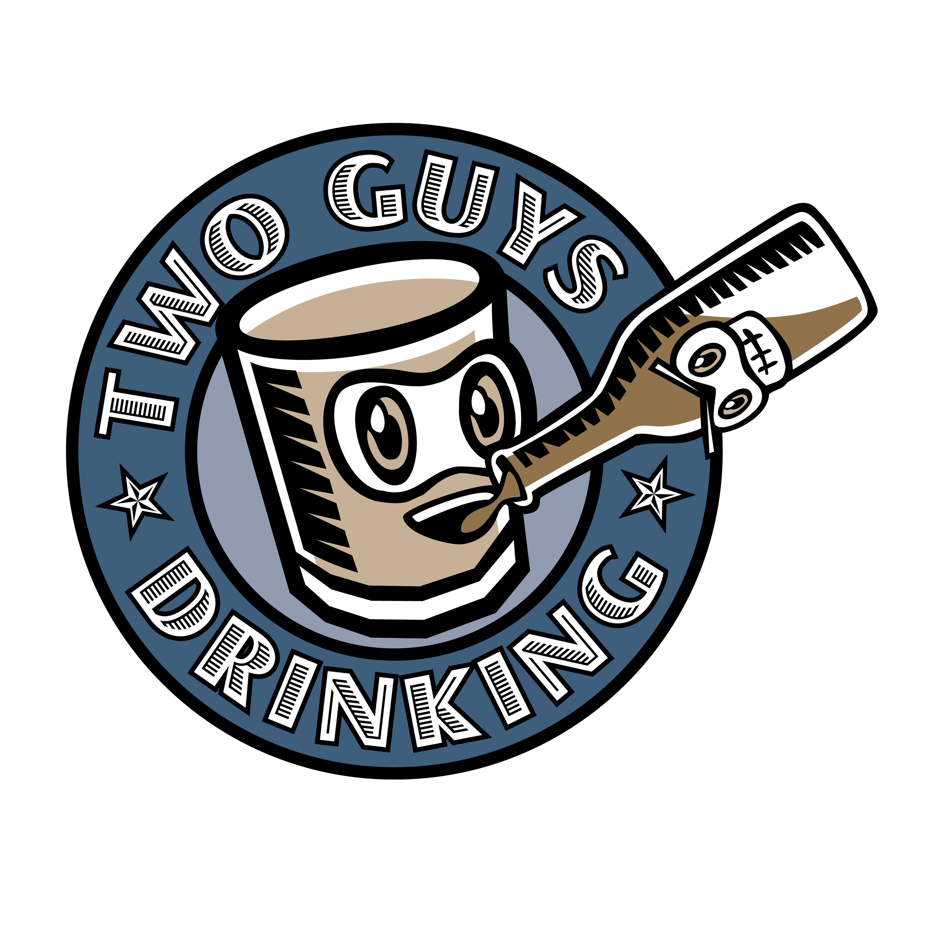 Two Guys Drinking