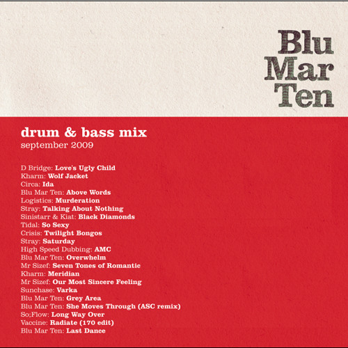 Blu Mar Ten - Drum & Bass Mix: Sep 2009