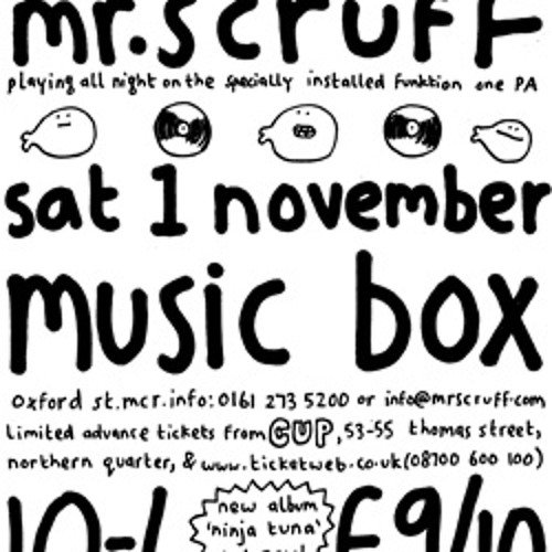 Mr Scruff live DJ mix from 'Keep It Unreal' at the Music Box, Manchester, Saturday 1st November 2008