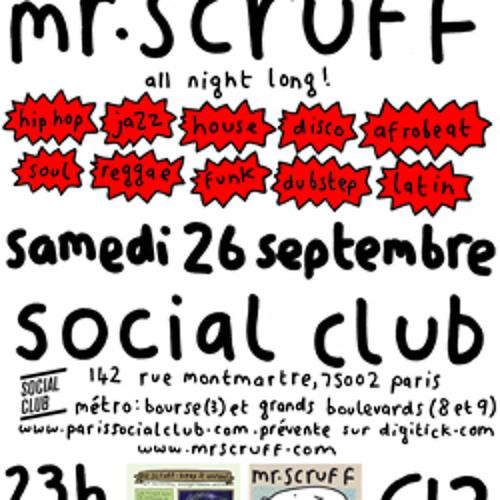 Mr Scruff live DJ mix from the Social Club, Paris, Sat 26 September 2009