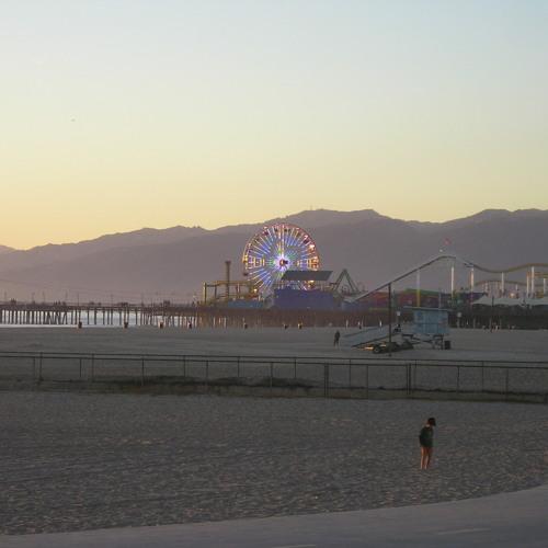 Kids Playing Beach Volleyball in Santa Monica, LA