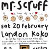 Mr Scruff live DJ mix from Koko, London, Saturday 20th February 2010