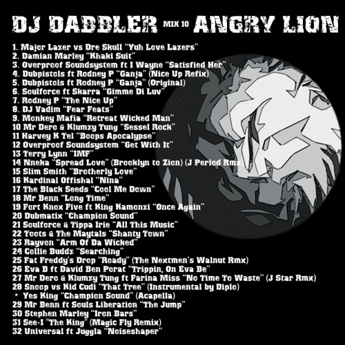 Dabbler - Mix 10 - Angry Lion (2010) SUMMER VIBES!! rewind and play it again!