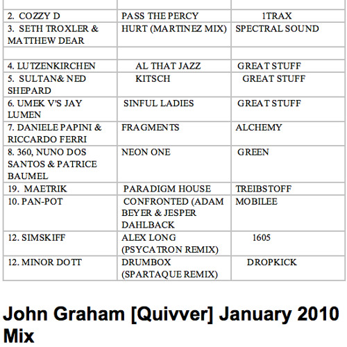 John graham(quivver)- jan 2010