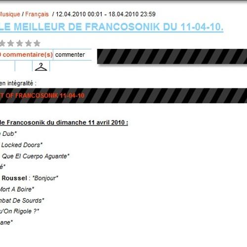 Ackboo sur Le Mouv' (Radio France) - avril2010