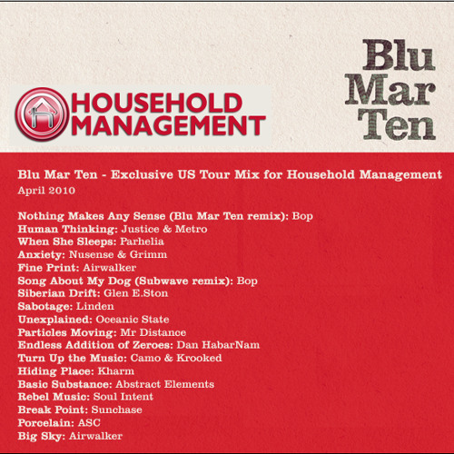 Blu Mar Ten - Exclusive Household Mgmnt Mix - April 2010