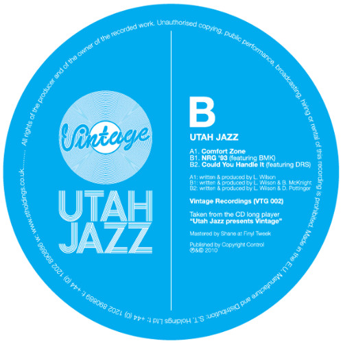 NRG '93 - Utah Jazz & BMK - Vintage 002 (Out Now)