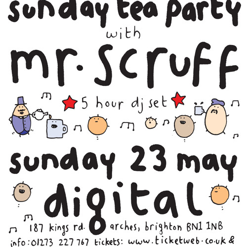 Mr Scruff live DJ mix from Brighton Digital, Sunday 23 may 2010