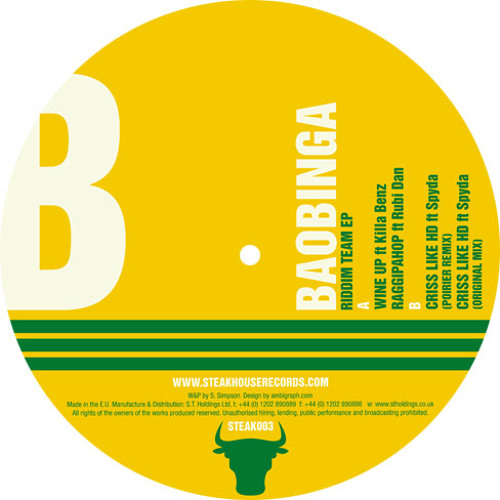 STEAK 003 - Baobinga - Riddim Team EP